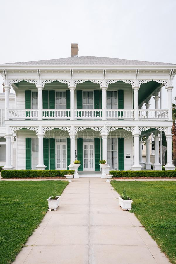 Historic house in Galveston, Texas.  stock images