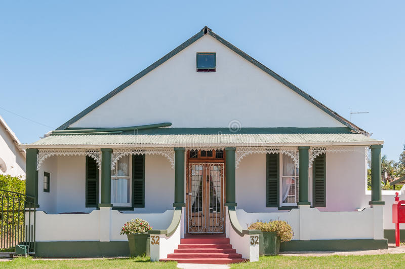 Historic house in Humansdorp. HUMANSDORP, SOUTH AFRICA - FEBRUARY 28, 2016: Historic house in Humansdorp in the Eastern Cape Province stock images