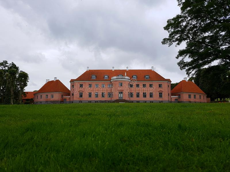 Historic house. Moesgaard garden Denmark stock photo
