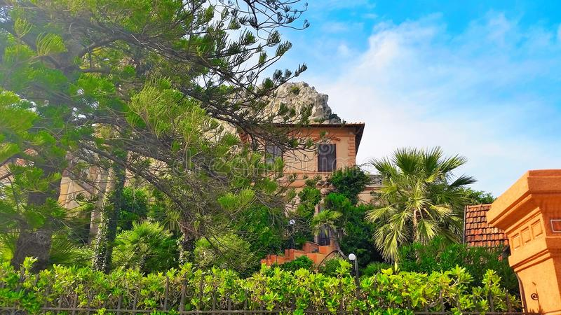 A historic house near Mondello. royalty free stock photo