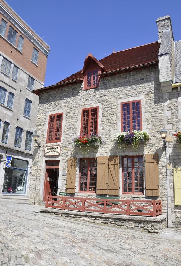 Quebec, 28th June: Historic House from Place Royale of Old Quebec City in Canada. Historic House from Place Royale of Old Quebec City in Canada on 28th june 2017 royalty free stock photo