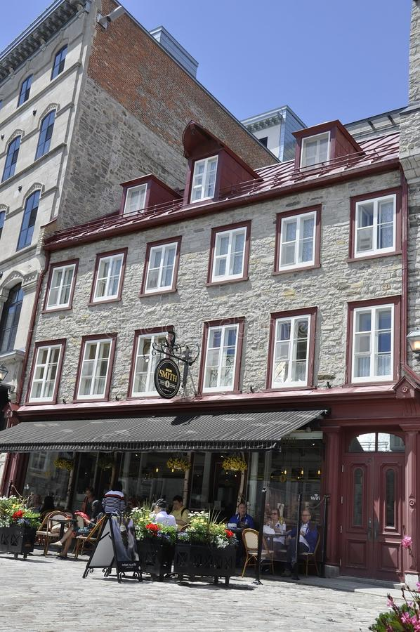 Quebec, 28th June:Historic House from Place Royale of Old Quebec City in Canada. Historic House from Place Royale of Old Quebec City in Canada on 28th june 2017 stock photo