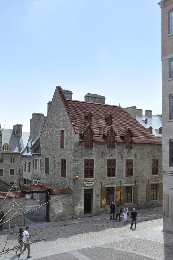 Quebec, 28th June:Historic House from Place Royale of Old Quebec City in Canada. Historic House from Place Royale of Old Quebec City in Canada on 28th june 2017 stock photos