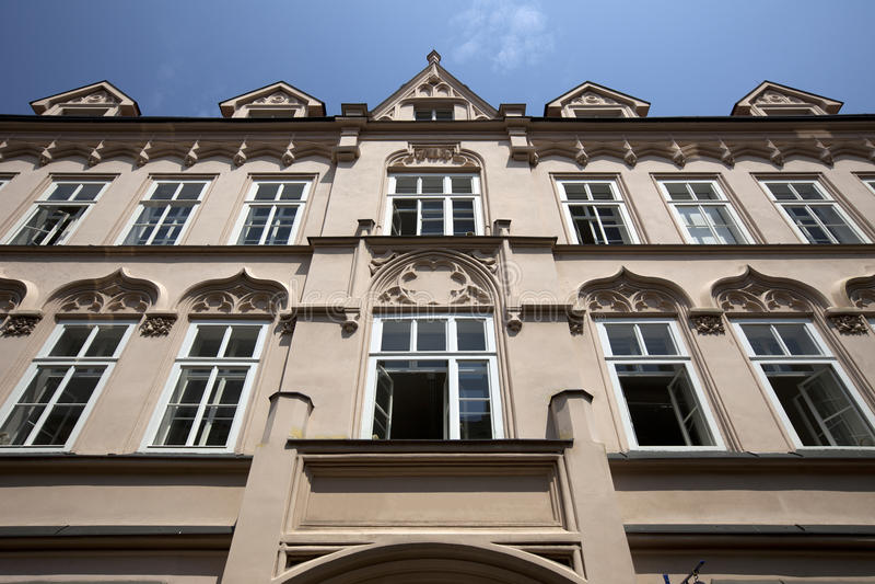 Historic house in Prague stock photo
