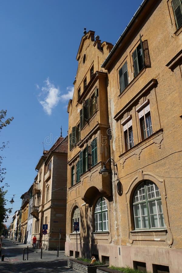 Historic house in Sibiu, Romania royalty free stock photography