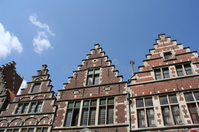 Historic houses royalty free stock photography