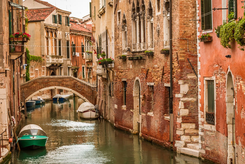 Historic houses of the Grand Canal in Venice royalty free stock photos