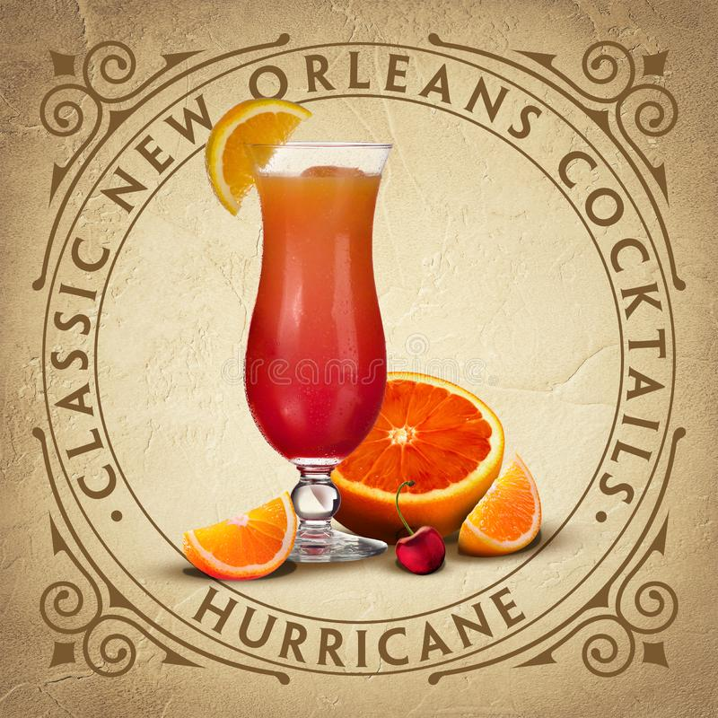 Historic Iconic Classic New Orleans Cocktails. Mixology Mixologist Louisiana Southern Collection stock illustration