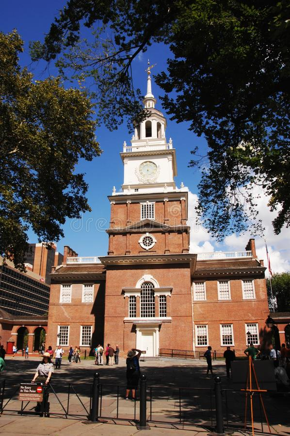 Historic Independence Hall stock image