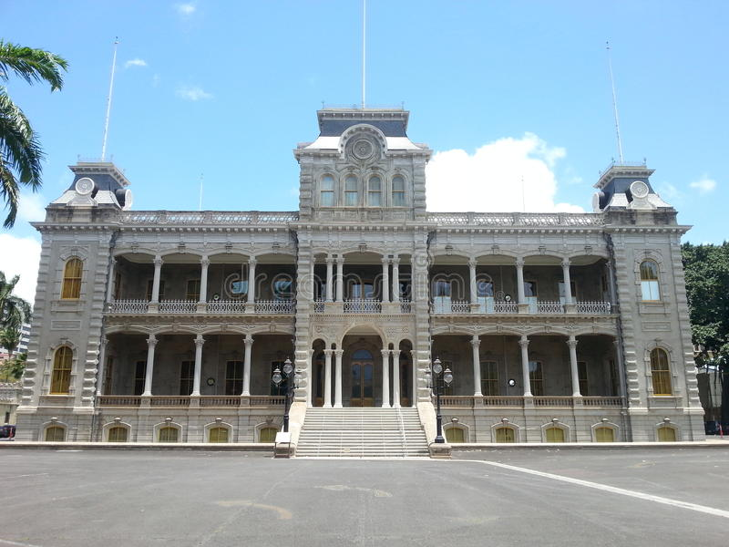 The Historic Iolani Palace stock photos