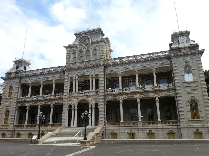 The Historic Iolani Palace royalty free stock image