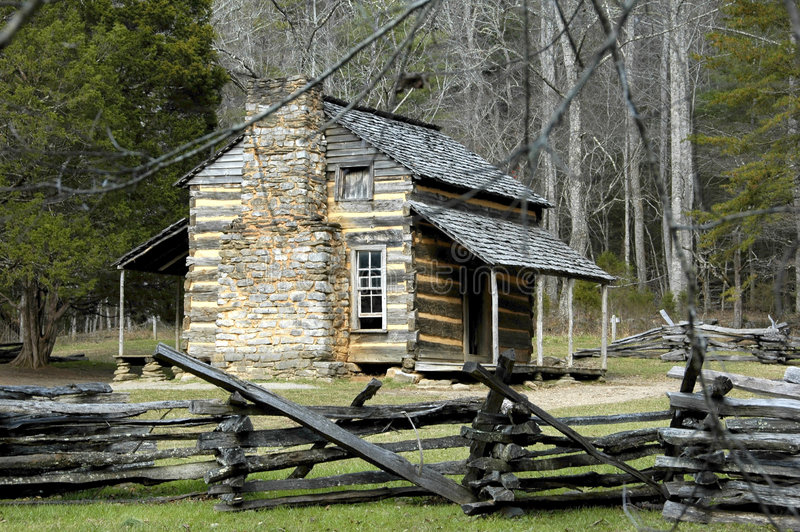 Download Historic John Oliver Cabin stock photo. Image of nature - 2491370