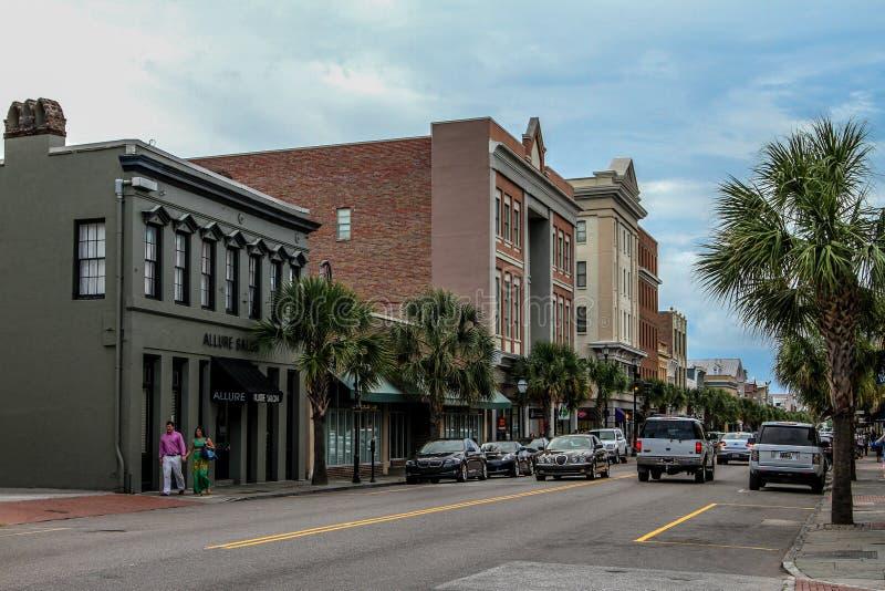 Historic King Street, Charleston, SC. stock image
