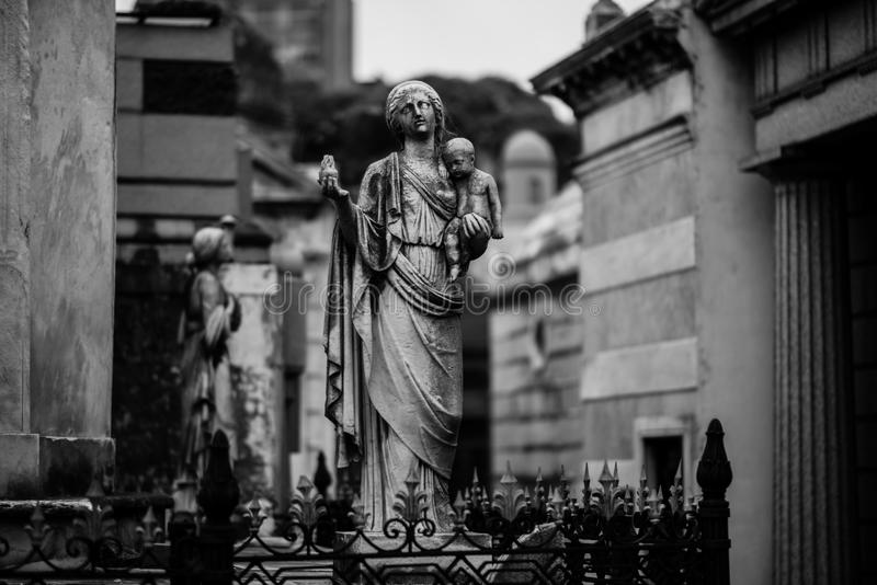 La Recoleta Cemetery. Buenos Aires, Argentina stock photography