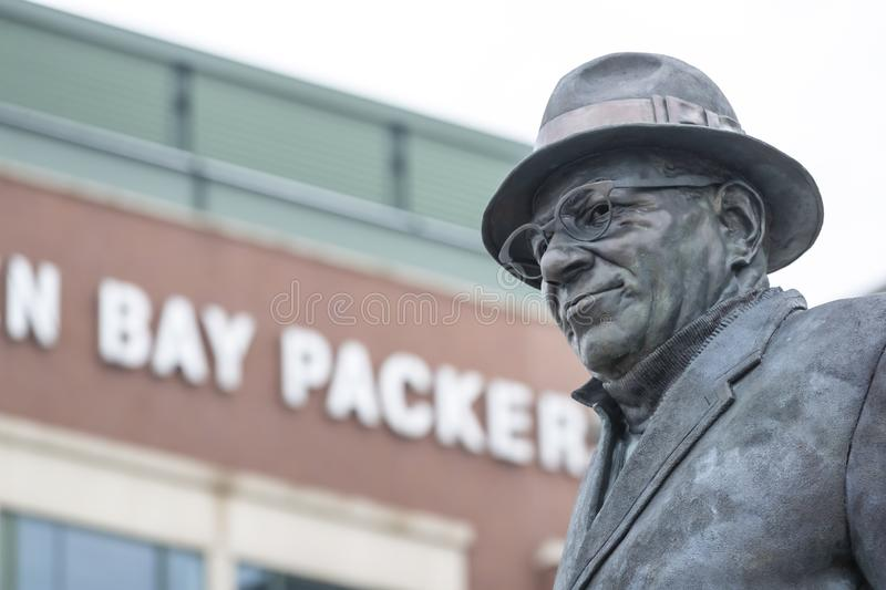 Historic Lambeau Field, Home of the Green Bay Pakers in Green Way, Wisconsin. June 24, 2019 - Green Bay, Wisconsin, USA: Historic Lambeau Field, home of the stock image