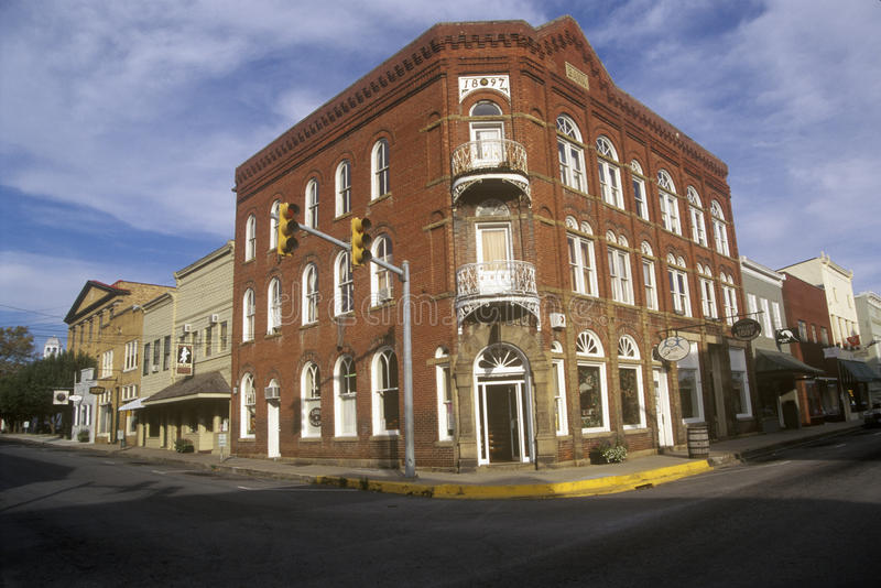 Historic Lewisburg, WV along US Route 60 stock photo