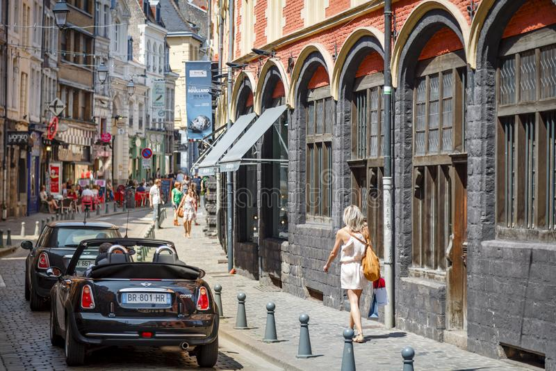 Historic Lille France stock image