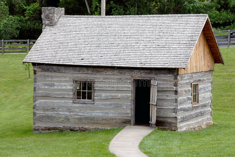 Download Historic Log Cabin stock image. Image of quarters, primitive - 1061721