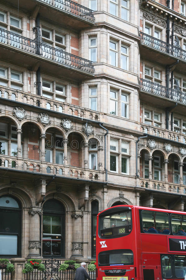 Historic London Hotel Editorial Stock Image