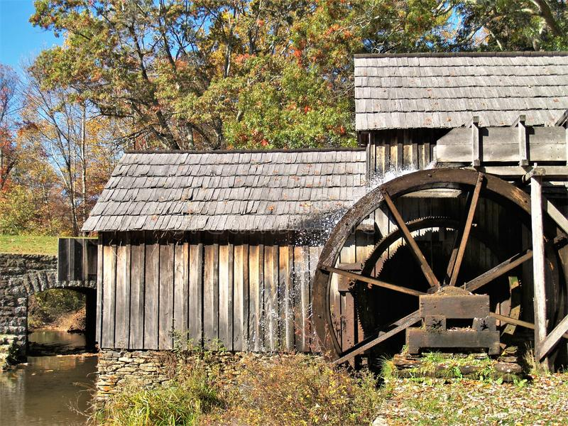 Historic Mabry Mill on Blue Ridge Parkway stock photography