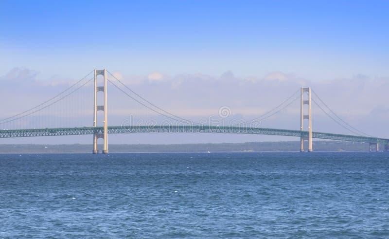 Historic Mackinac Bridge stock photo