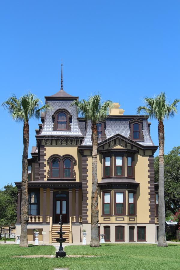 Historic Mansion Landmark Owned by State of Texas stock images