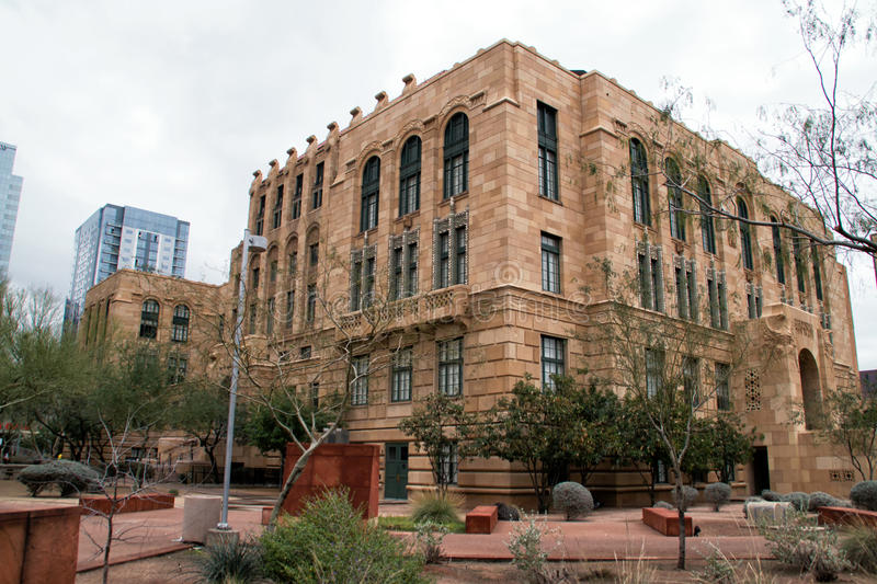 Historic Maricopa County Courthouse In Phoenix Arizona. The old historic Maricopa County court house, jail, and old Phoenix City Hall in downtown Phoenix stock images
