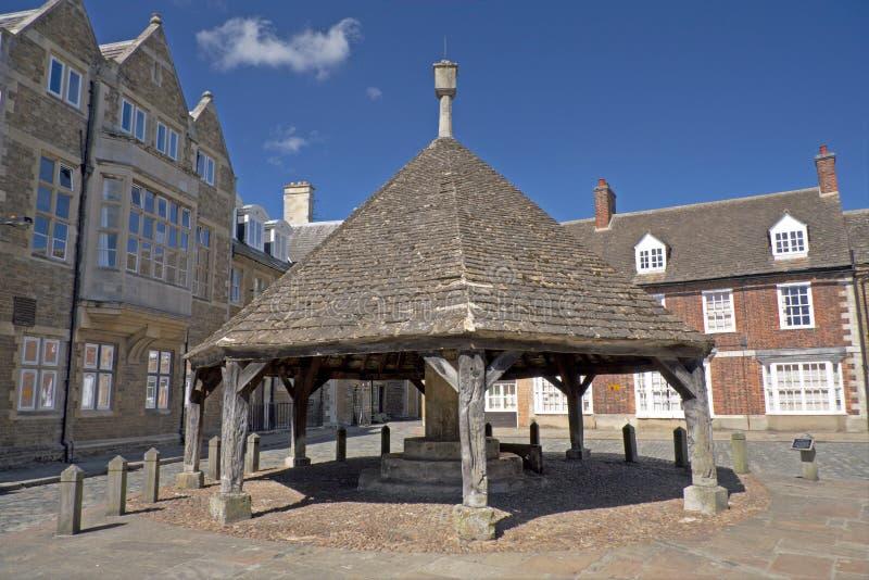 Historic Market Place, Oakham, England. stock photography