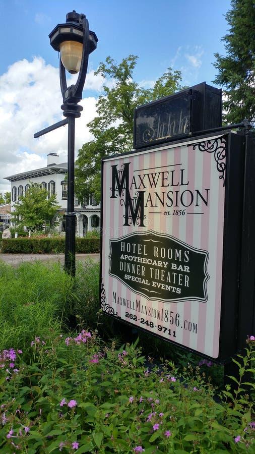 Historic Maxwell Mansion, Lake Geneva, WI stock image