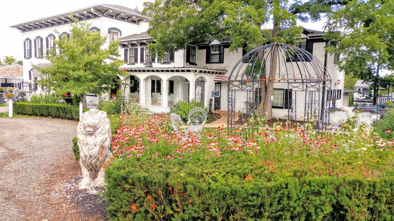 Historic Maxwell Mansion, Lake Geneva, WI royalty free stock image