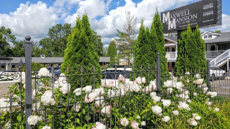 Historic Maxwell Mansion, Lake Geneva, WI royalty free stock images