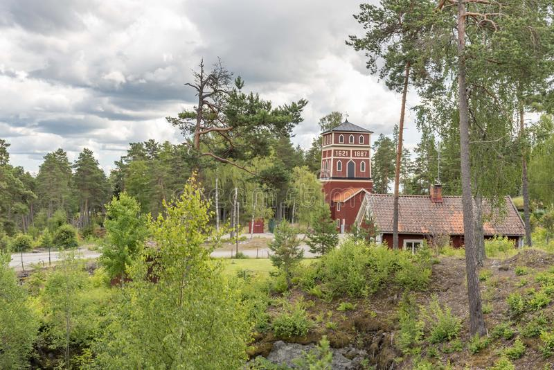Historic mining site in Sala in Sweden. In summer royalty free stock photos