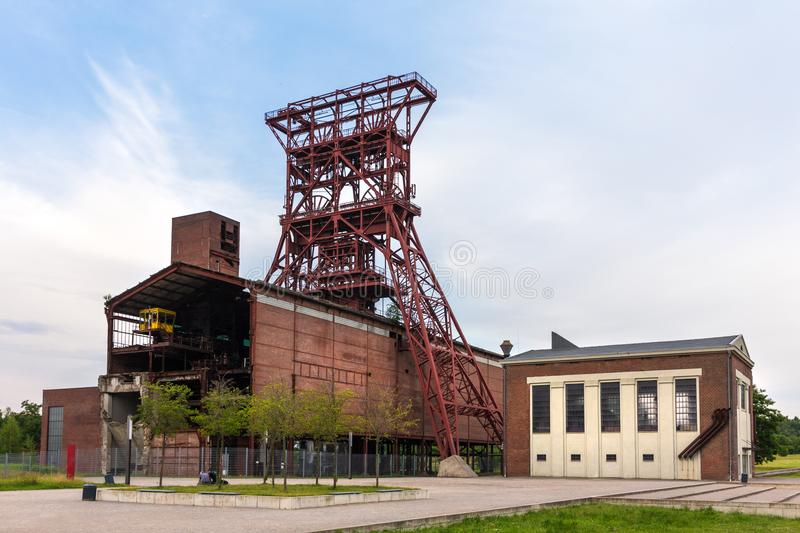 Historic mining tower gelsenkirchen germany. A historic mining tower gelsenkirchen germany stock photos