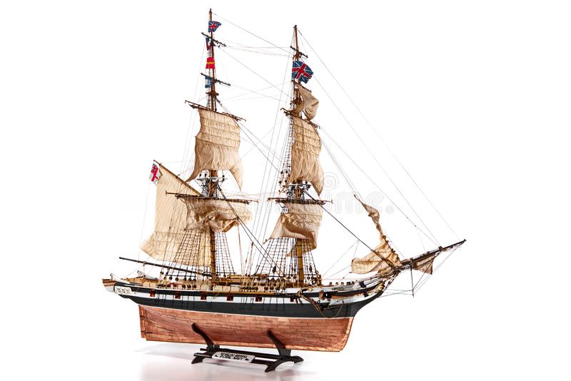 Historic Model Ship stock photos
