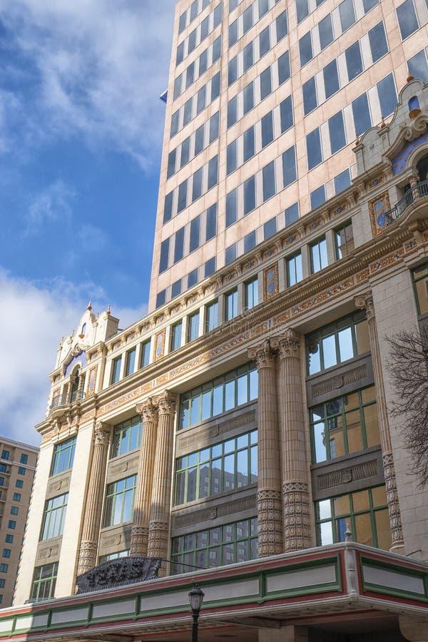 Historic and modern buildings in San Antonio Texas royalty free stock photos
