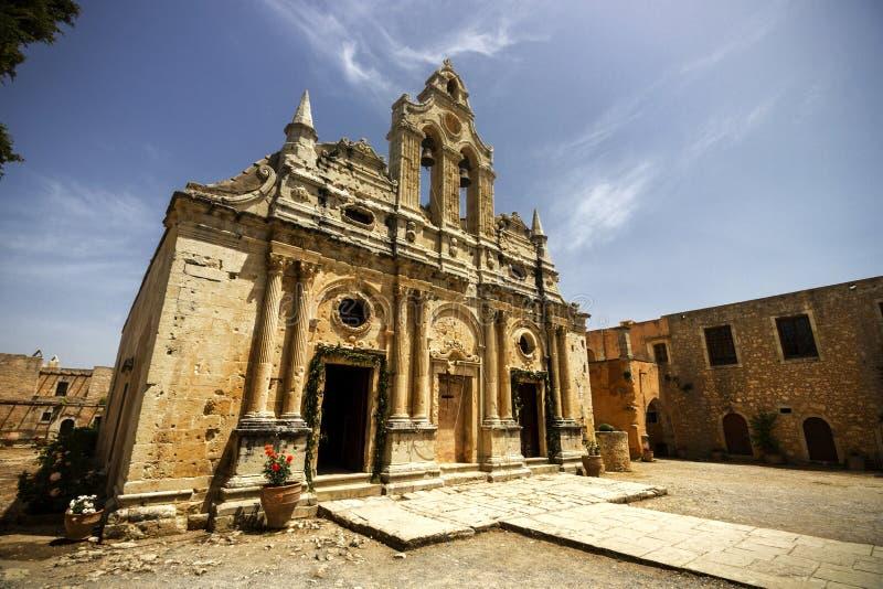 The historic monastery of Arkadi, in Rethymno, Crete, Greece. stock photos