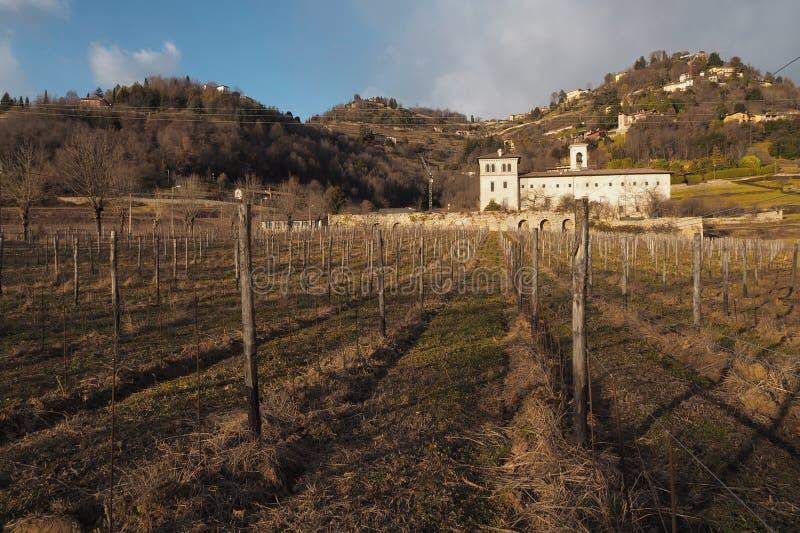 Historic monastery of Astino, Bergamo, Italy. Historic monastery of Astino, Bergamo, Lombardy, Italy stock images