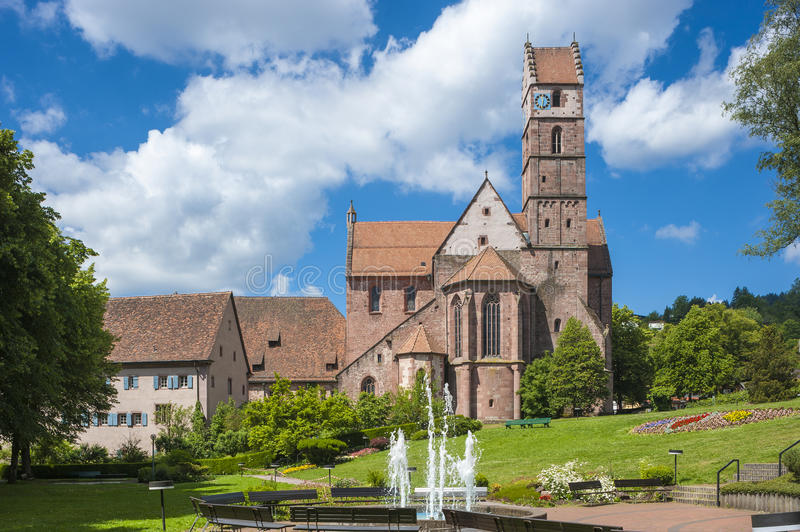 The historic monastery church in Alpirsbach. In the Black Forest, Baden-Wurttemberg , Germany, Europe stock image