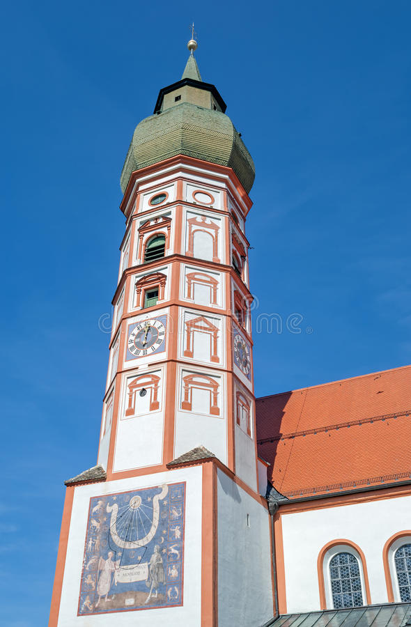 The historic monastery Kloster Andechs in Bavaria. The church of the historic monastery Kloster Andechs in Bavaria royalty free stock photo