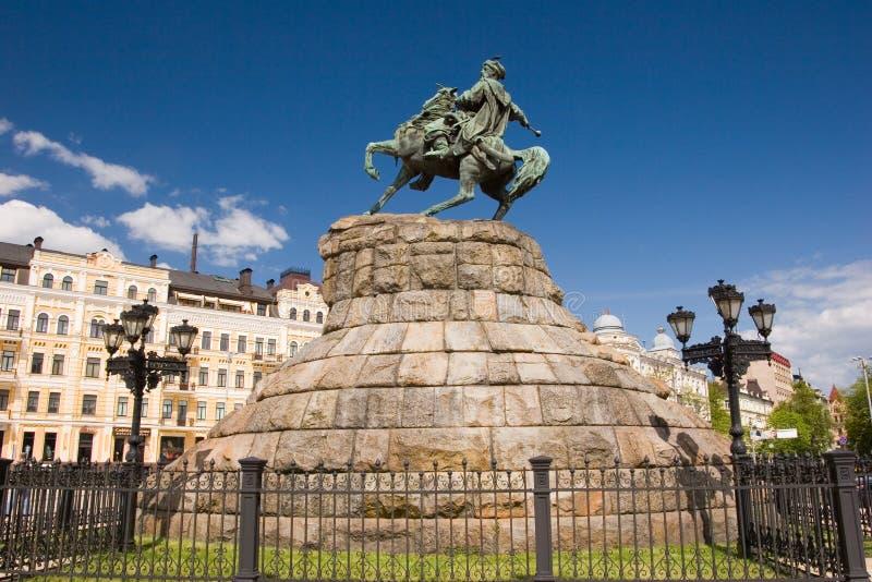 Historic monument of famous Ukrainian Hetman Bogdan Khmelnitsky royalty free stock image