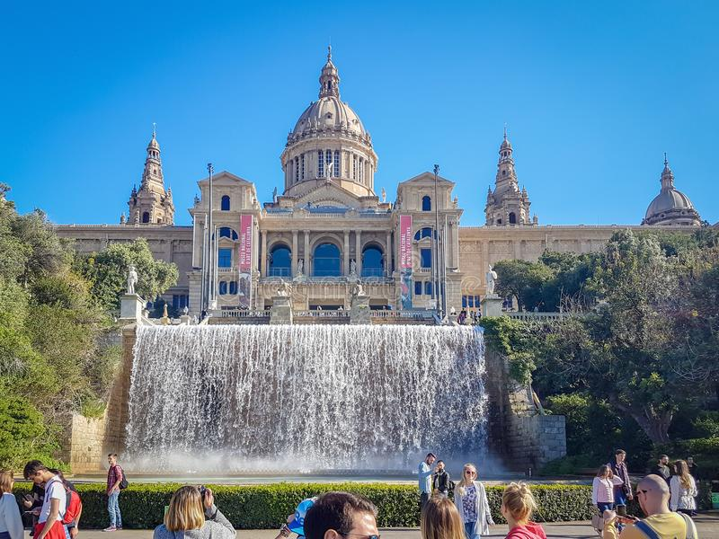 Historic monument,national palace situated in Spaint, Barcelona stock photos