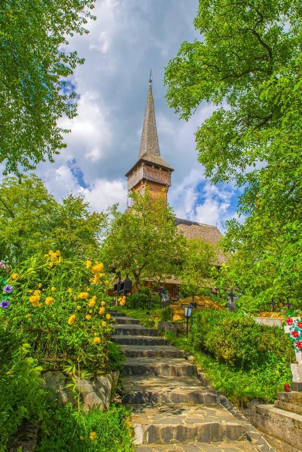 Historic monument wood church stock photos