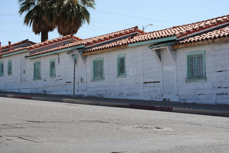 Historic Motel. Old, run down, historic motel stock photos