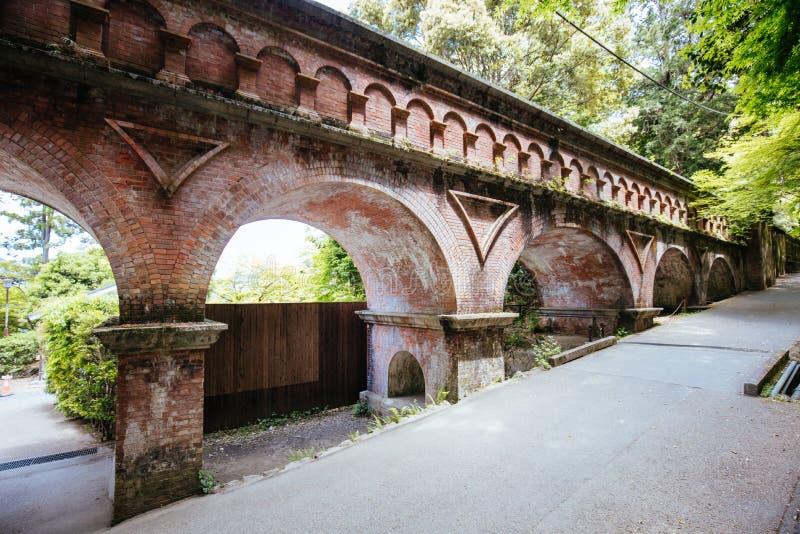 Historic Nanzenji Temple Aqueduct in Kyoto Japan stock images