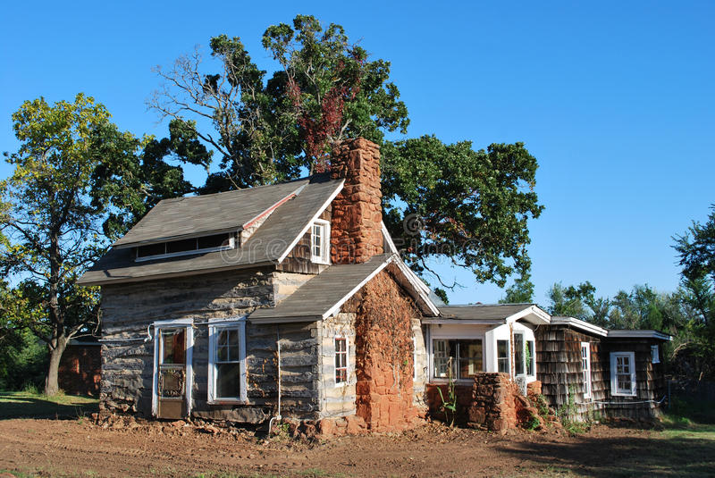 Historic Oklahoma Home Stock Images