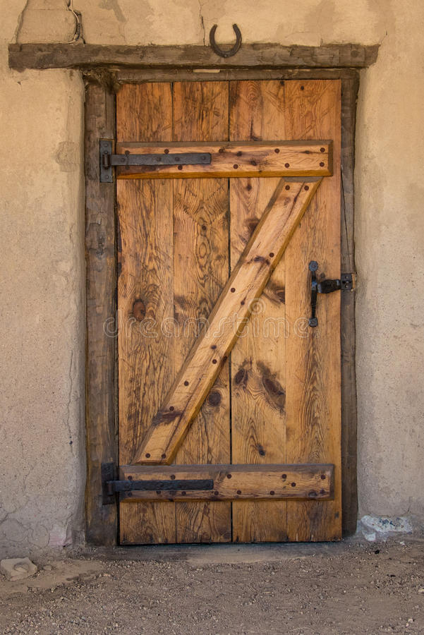 Historic Old Bent's Fort - Vintage Door royalty free stock image