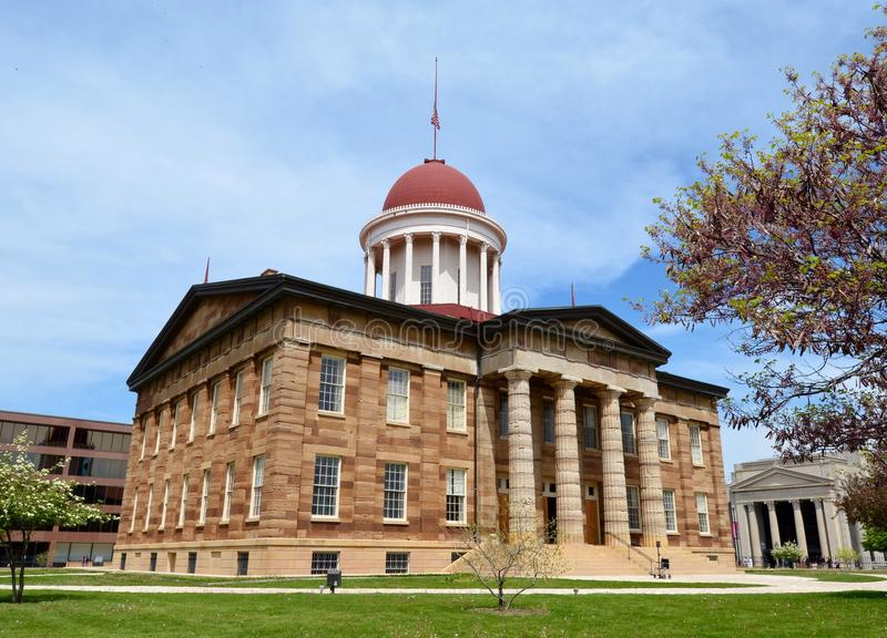 Historic Old Illinois Capitol stock image