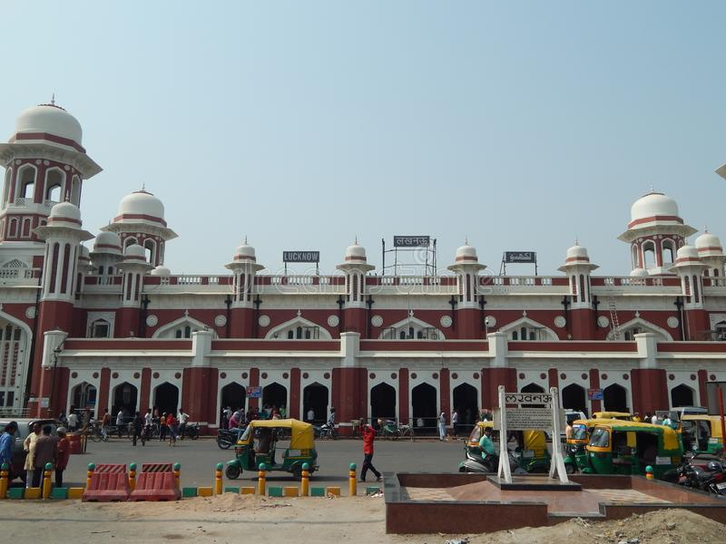 Historic Railway Station Lucknow royalty free stock photography
