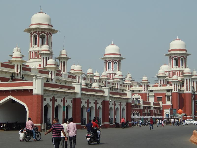 Historic Railway Station Lucknow stock image