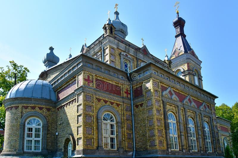 Estonian Apostolic Orthodox Parnu Transformation of Our Lord Church. The historic Old Russian-style Parnu Transformation of Our Lord Apostolic Orthodox Church royalty free stock photos
